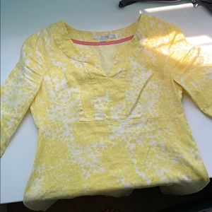 Yellow and White Flower Patterned Boden Dress